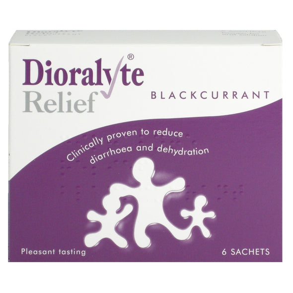 Dioralyte Relief Oral Dehydration Therapy - Blackcurrant Flavour - 6 Sachets