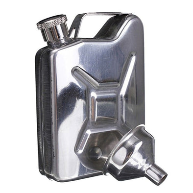 Stainless Steel Jerry Can Hip Flask 5oz - EDC