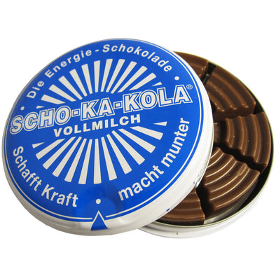 Scho-Ka-Kola Caffeine Rich German Milk Chocolate Tin