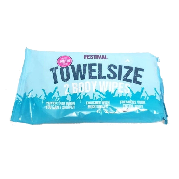 Towel Sized Wipes - Over 1 Meter Long! Perfect for Camping and Hiking