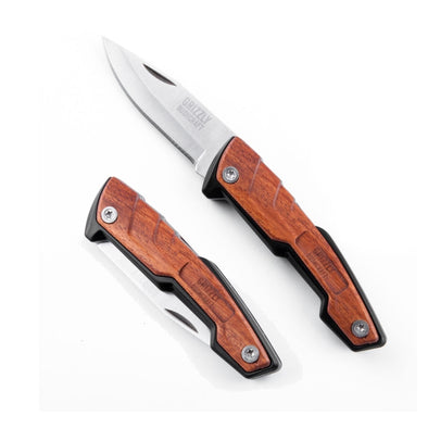 Grizzly Bushcraft Legal Carry Pocket Buddy Knife (Wood)