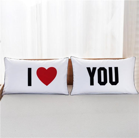 For Him & For Her Couples Pillow Covers