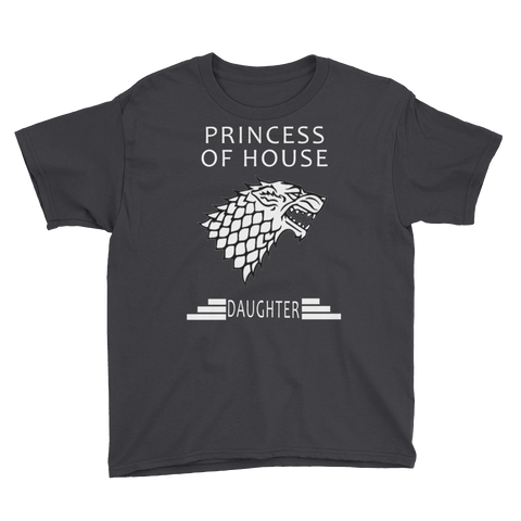 "Princess of House ""DAUGHTER"" Youth Short Sleeve T-Shirt"