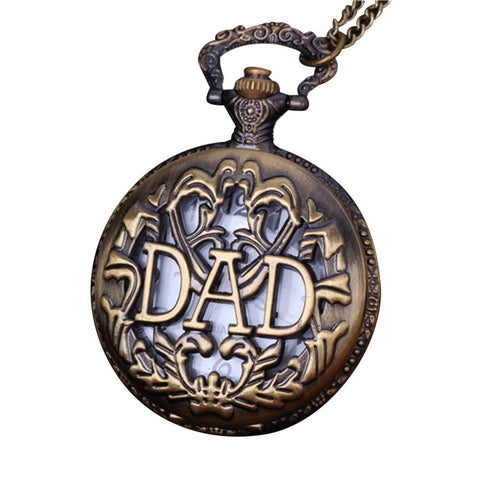 Pocket Watch Necklace For Grandpa Dad