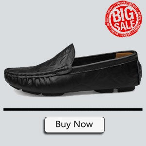 Men Casual Suede Leather Loafers Black Solid Leather Driving Moccasins