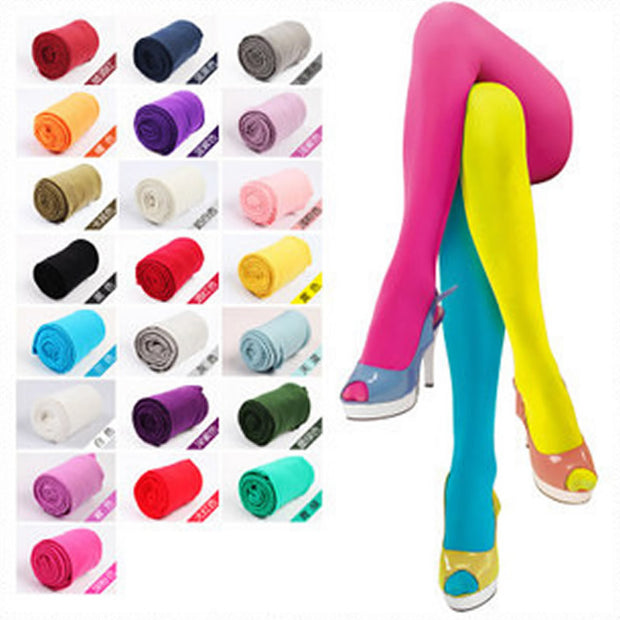 120D Women Tights Velvet Candy Color High Quality Stockings Winter