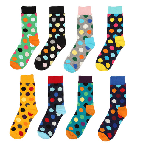 Colorful Point fashion Men socks women Stripe Korea socks Cotton long brand new high quality lovers women socks men's sock