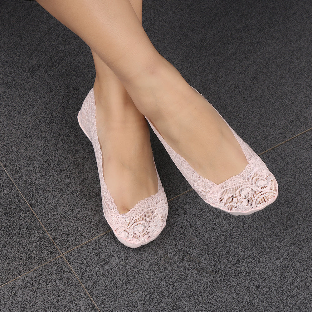 1 Pair of 2015 Hot Summer Women Girls Cotton Lace Antiskid Invisible