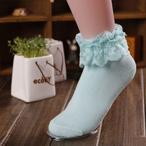 1 Pair 7 Colors Princess Girl Cute Sweet Women Ladies Vintage Lace