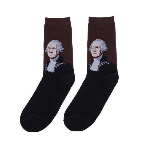 1 Pair New Vintage Retro Unisex Famous Painting Art Socks Novelty