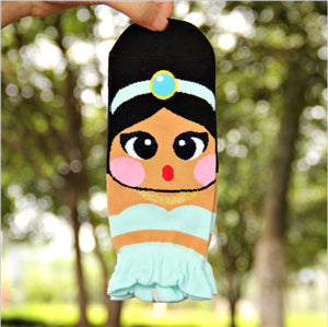 1 Pair Women Mermaid Socks 3d cartoon Cotton Print brand ladies Sock