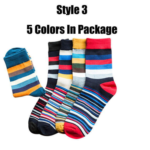 6 pairs/lot and 5 pairs/lot Brand Cotton Men Socks Vintage Male