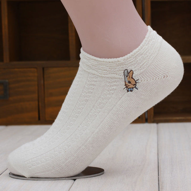 1 Pair of Women Socks Girl Female Lady Short Cotton Socks Candy