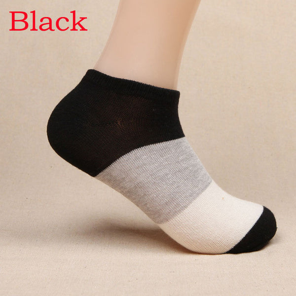 1 Pair 2016 New Fashion Women Summer Socks Wide Stripe Socks Cotton