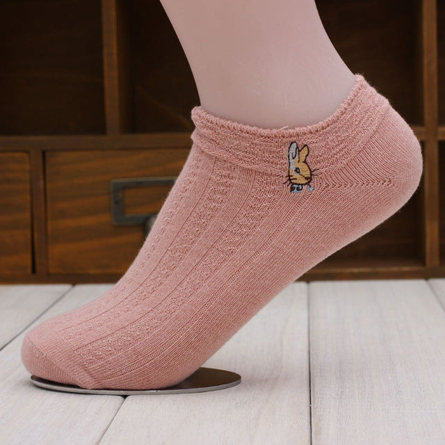 1 Pair New Candy Cotton Women Short Ankle Boat Low Cut Socks Crew