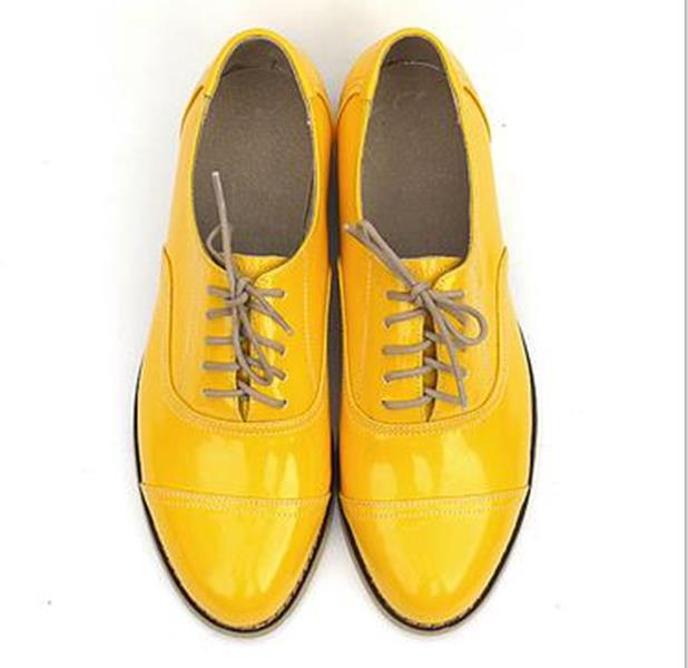 2017 New Women's Flats Casual Shoes Lace Up Brogues Vintage Oxfords