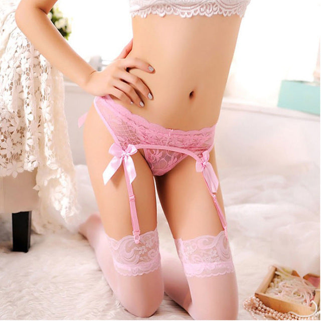 1 pair Sheer Sexy Fashion Top Thigh-Highs Stocking and Garter Belt