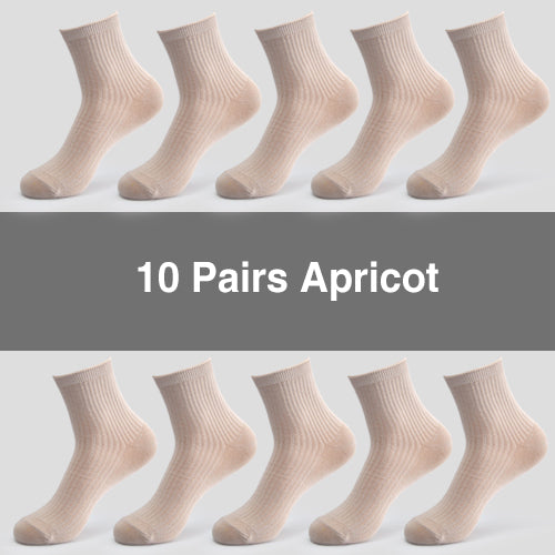 10 Pairs/ Lot Women Cotton Socks Brand New 5 Colors Comfortable