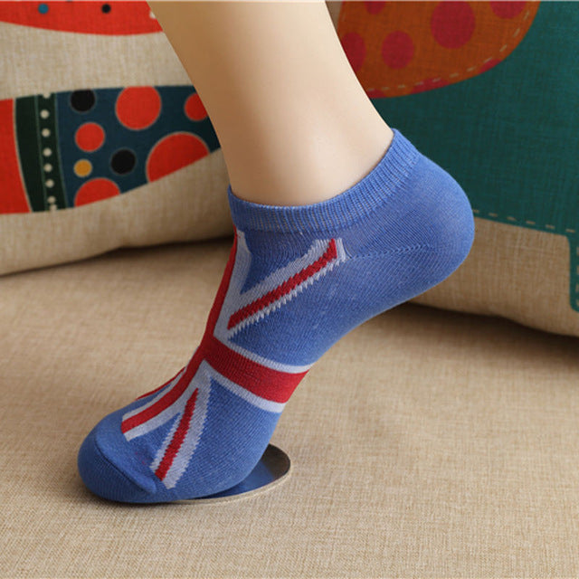 1 Pair Men Fashion New Ankle Socks Low Cut Crew Casual Color Cotton