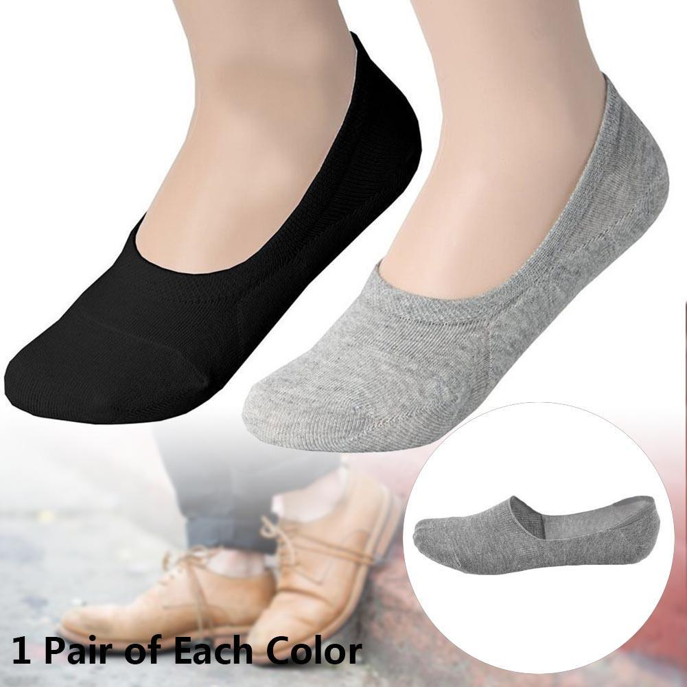 2 Pairs Men Socks Comfortable loafer Boat Liner Low Cut Hidden Socks