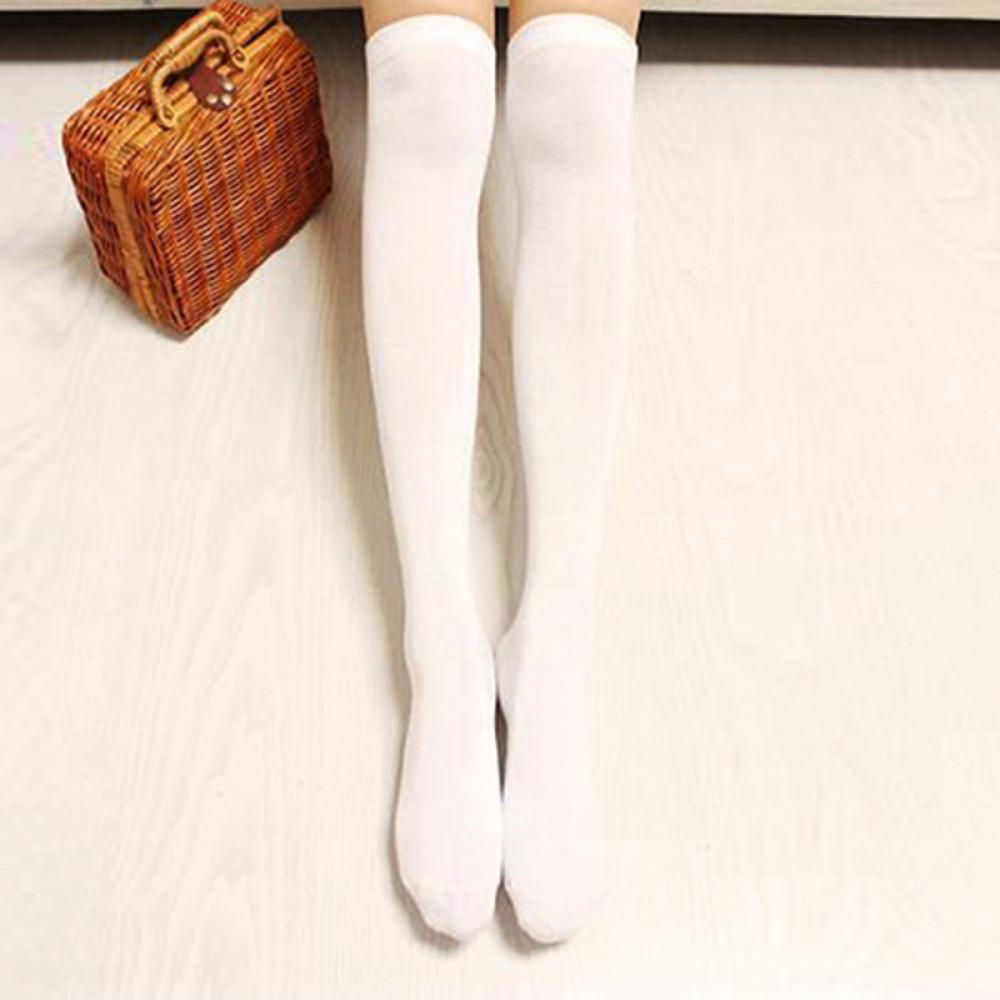 1Pair Fashion Lovely Women Long Sexy Chic Over The Knee Cotton