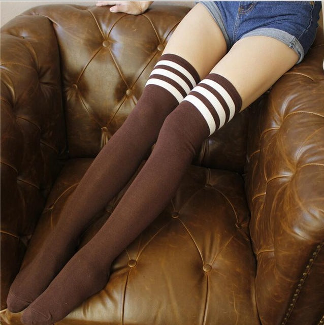 1 pair High Hot Cotton Thigh Highs stocking  Women Plus Size Over Knee
