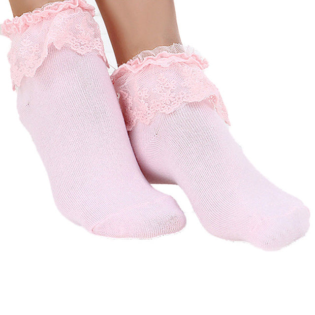 1 Pair Sweet  Vintage Lace Princess  Socks Ladies Girls  Women Lace