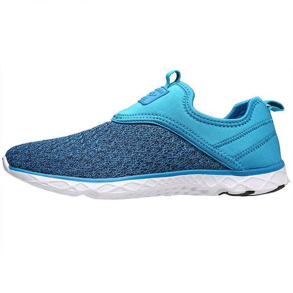 Aleader 2017 New Breathable Mens Shoes Summer Slip On Beach Shoes Flat Ladies Walking Water Shoes Mesh Casual Shoes zapatillas