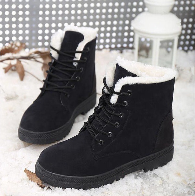 Women Boots 2017 Winter Boots Women Warm Fur Ankle Boots For Women