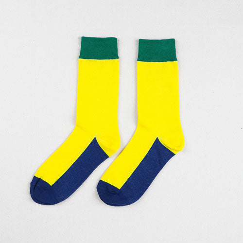 Match-Up NewCombed cotton  Color Socks for Couple Harajuku Street Tide