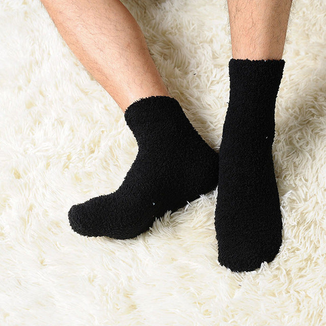 7 Colors Extremely Cozy Cashmere Socks Men Women Winter Warm Sleep Bed