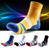 1 pair 2017 New Men's Brand High-top Socks Thicken coolmax Socks Quick