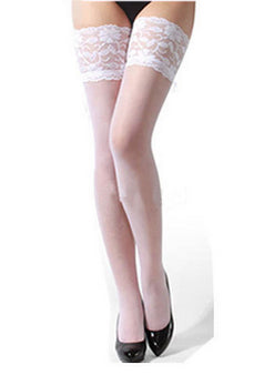 1 Pair Hot Sale Sexy Women Girls Lady Sheer Lace Top Thigh High Sexy
