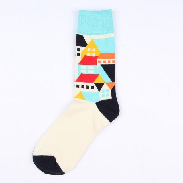 1 pair new brand men cotton casual socks in tube novelty harajuku