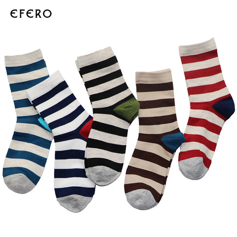 1Pair Brand New Stripe Style Men Happy Socks Funny Causal Colorful Socks Art Thermal Socks Compression Chaussette Homme