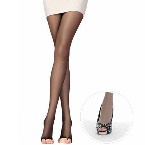 1 PCS Sexy Women Girls Open Toe Sheer Leggings Ultra-Thin Pantyhose