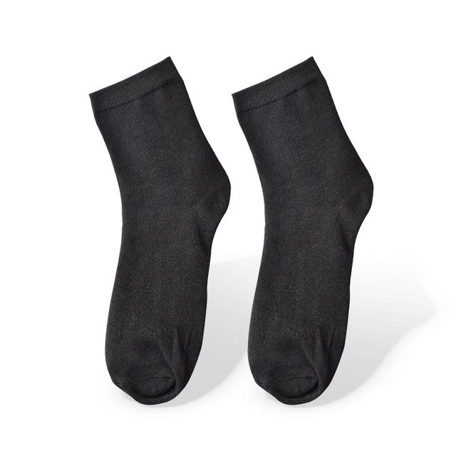 10 Pairs Black Men's Socks Bamboo Fiber Weed Socks Male Solid Casual
