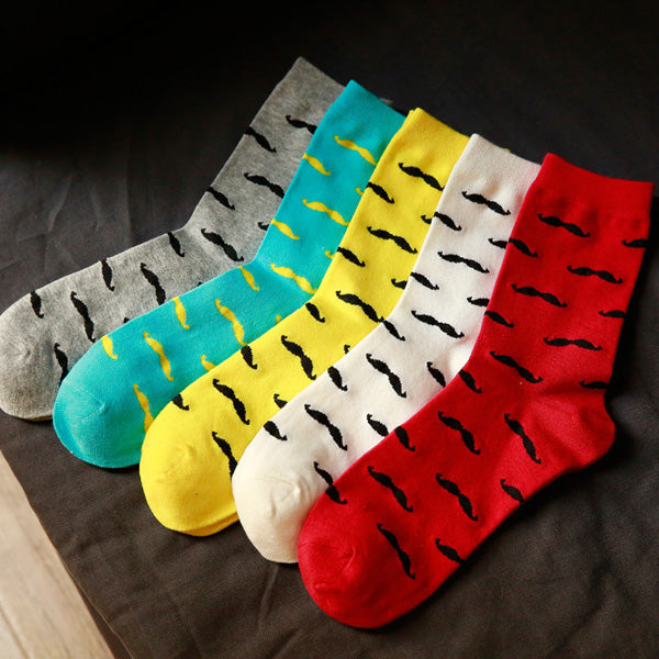 Cody Steel Cute Men Cotton Socks Fashion Cartoon Moustache Socks
