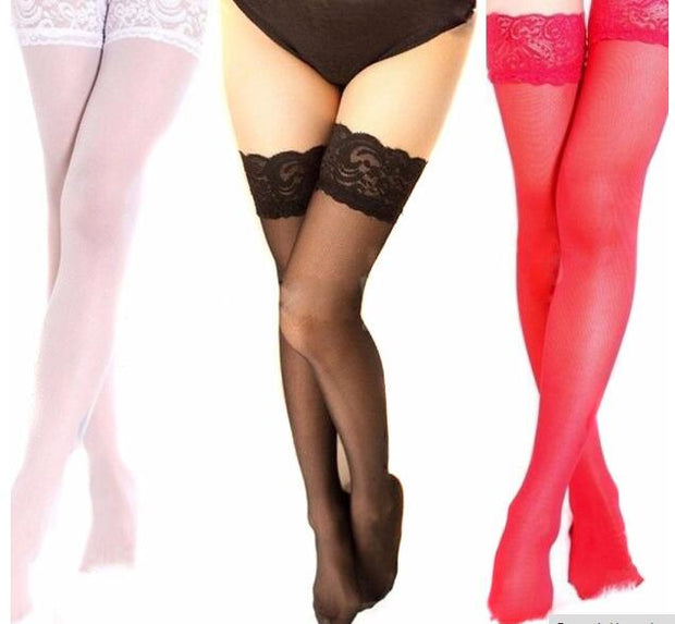 2017 Hot Sale Sexy Women Girls Lace Top Thigh High Stockings