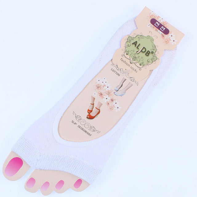 1 Pair Women Cotton Sock The Silicone Antiskid Invisible Liner