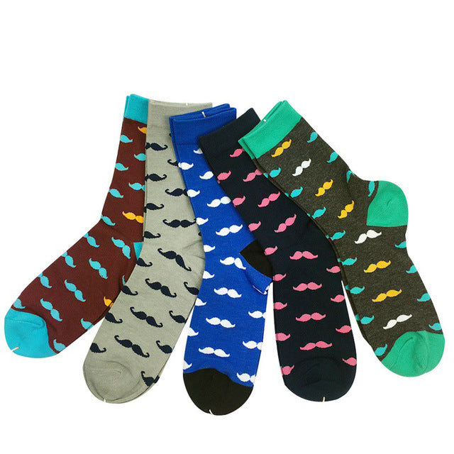 Match-Up  MUSTACHE  ANCHOR  Man  Combed Cotton Socks  US 7.5-12 (5