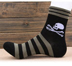 1Pair High Quality Harajuku Skull Striped Socks 5 Colors Brand Men
