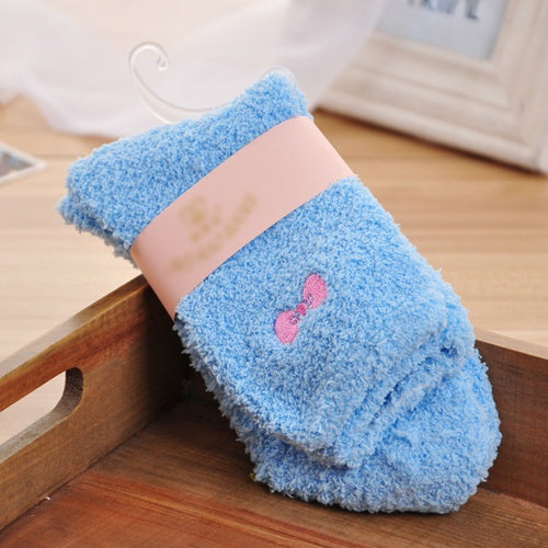 2017 New Women Winter Women Ladies Soft Warm Fluffy Bed Socks