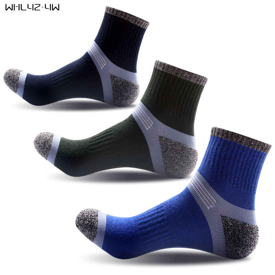 5 pairs/lot Cotton man socks compression breathable socks boy Contrast
