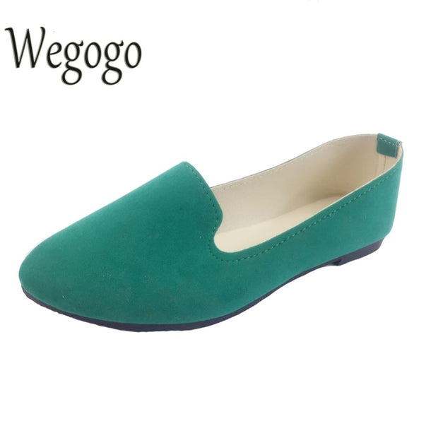 Wegogo Plus Size Shoes Women Flats Candy Color Woman Loafers Spring