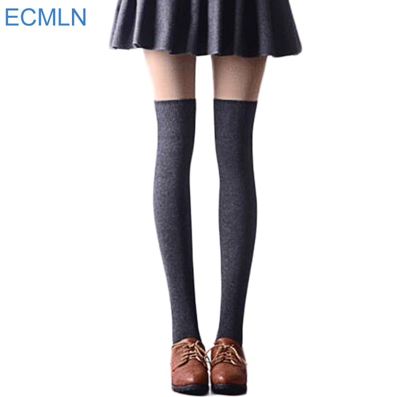 1 Pair 5 Solid Colors Fashion Sexy Warm Thigh High Over the Knee Socks
