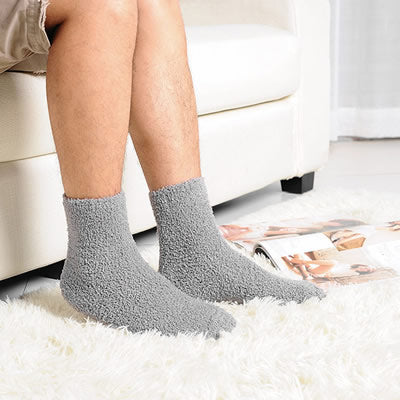 1pair Extremely Cozy Cashmere Socks Men Women Winter Warm Sleep Bed