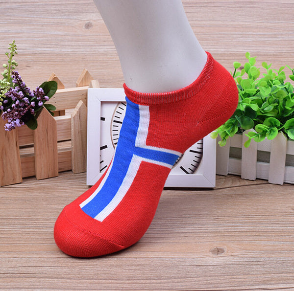 10 Pairs/ Lot Fashion New National Flag Pattern Polyester Men Socks