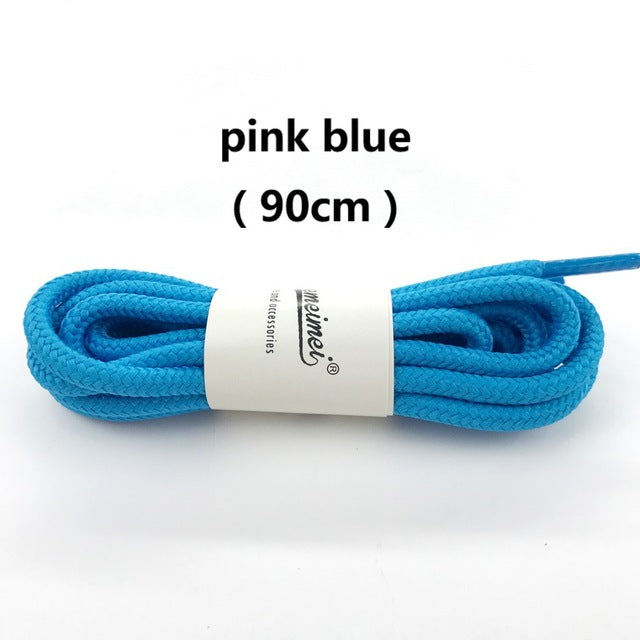 1Pair 20 Colors Top Quality Polyester Solid Classic Round Shoelaces