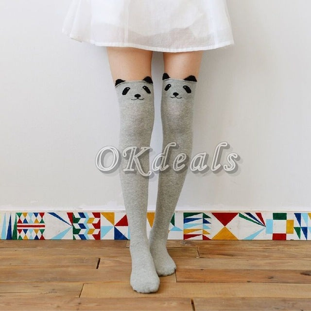 1 Pair Women Sexy Stockings Autumn Winter Cute Thigh Long Cotton